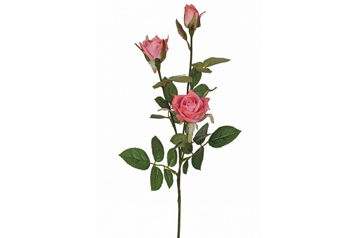 Роза Букенгемская искусственная темно-розовая 57 см