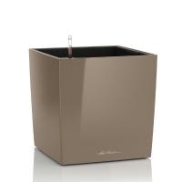 Кашпо Lechuza Cube Серо-коричневый глянец