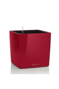 Кашпо Lechuza Cube Красный глянец