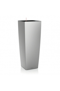 Кашпо Lechuza Cubico Alto серебро матовое (без автополива) (Размер (Д x Ш x В), см:40 x 40 x 105) (Размер (Д x Ш x В), см:40 x 40 x 105)