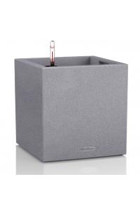 Кашпо Lechuza Canto Color Cube серый камень  (Размер (Д x Ш x В), см:30 x 30 x 30)