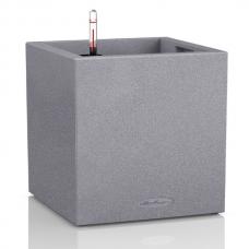 Кашпо Lechuza Canto Color Cube серый камень