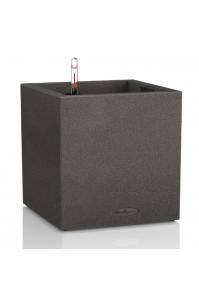 Кашпо Lechuza Canto Color Cube графитовый черный