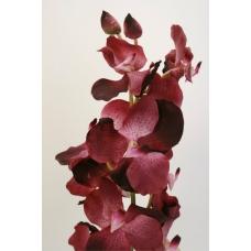 """Орхидея """"Vanda Sanderiana"""" искусственная темно-пурпурная 77 см"""