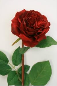"""Роза """"Auguste Renoir"""" искусственная бордовая 92 см"""
