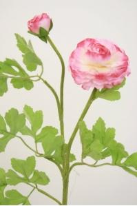 Лютик персидский искусственный розовый 56 см