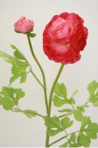 Лютик персидский искусственный малиново-розовый 56 см