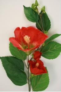 Суданская роза искусственная бордовая 92 см