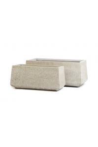 Кашпо Treez Ergo Cork низкая трапеция белый песок от 60 до 74 см
