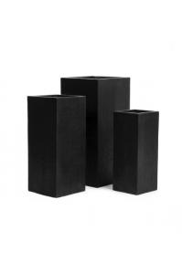 Кашпо Treez Ergo Cork кубическое высокое антрацит от 50 до 70 см