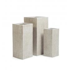 Кашпо Treez Ergo Cork кубическое высокое белый песок от 50 до 70 см