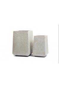 Кашпо Treez Ergo Cork кубическая трапеция белый песок от 44 до 54 см