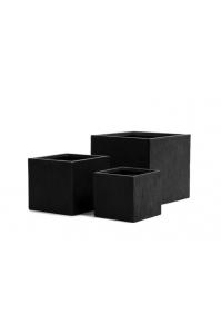 Кашпо Treez Ergo Cork куб антрацит от 24 до 40 см
