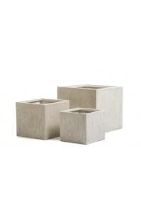 Кашпо Treez Ergo Cork куб белый песок от 24 до 40 см