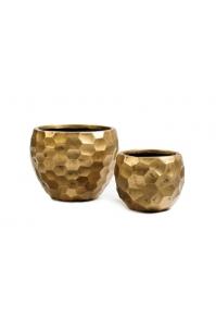 Кашпо Treez Ergo Comb полусфера застаренное золото от 29 до 39 см