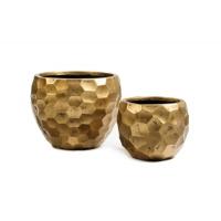 Кашпо Treez Ergo Comb полусфера застаренное золото от 24 до 31 см