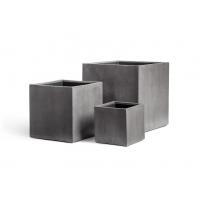 Кашпо Treez Effectory серия Beton куб темно-серый от 20 до 50 см