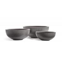 Кашпо Treez Effectory серия Beton низкая чаша темно-серый от 50 до 74 см