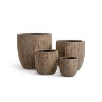Кашпо Treez Effectory серия Wood округлый конус светлый дуб от 22 до 49 см