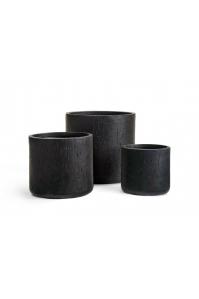 Кашпо Treez Ergo Cork цилиндр антрацит от 26 до 42 см