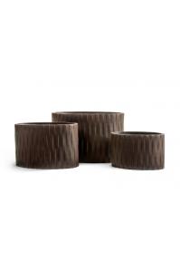 Кашпо Treez Ergo Wood цилиндрический эллипс венге от 40 до 60 см