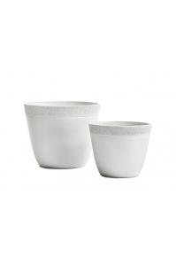 Кашпо Treez Japonica Ki Sen bowl белый камень от 25 до 41 см