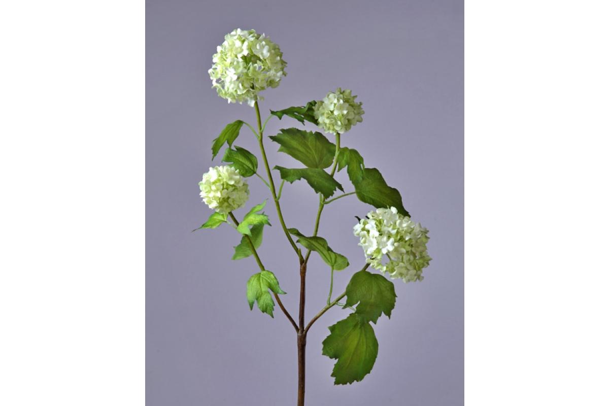 Калина Бульдонеж (Вибурнум) искусственная бело-зеленая 67 см
