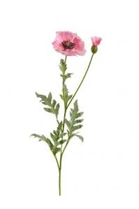 Мак Восточный искусственный розовый 73 см