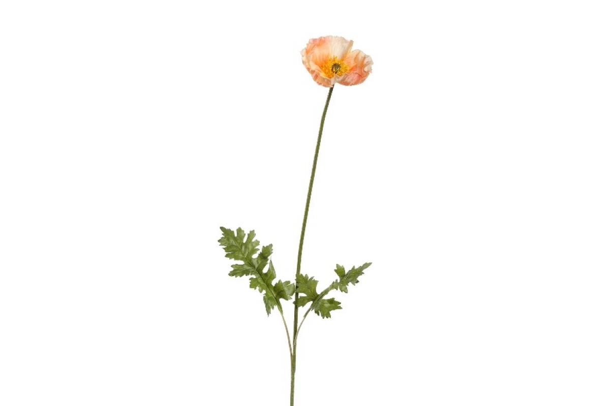 Мак Ширли искусственный светло-персиковый 64 см