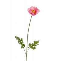 Мак Ширли искусственный розовый 64 см