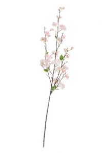 Ветка Сакуры Дворец Императора искусственная средняя нежно-розовая 125 см