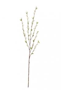 Ветка Спиреи средняя искусственная белая 130 см