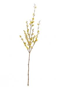 Ветка Форзиции цветущая искусственная малая светло-желтая 105 см