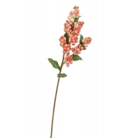 Ветка Снежноягодника искусственная нежно-розовая 51 см