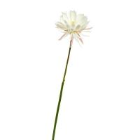 Лотос искусственный бело-розовый 90 см