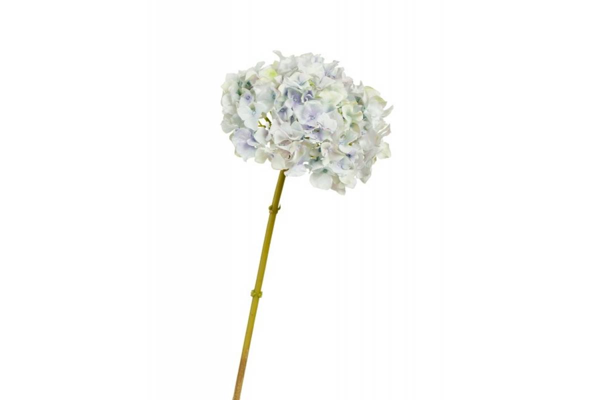 Гортензия искусственная нежно-голубая с нежно-сиреневым и лаймовым переливом 47 см