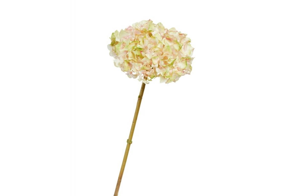 Гортензия искусственная нежно-розовая с нежно-лаймовым 47 см