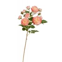 Роза Дэвид Остин искусственная светло-розовая с кремовым 51 см