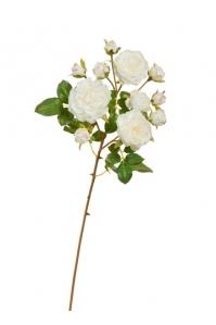 Роза Дэвид Остин искусственная ветка бело-розовая 51 см