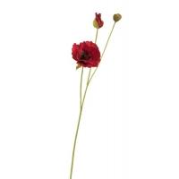 Мак искусственный красный 63 см