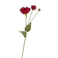 Мак искусственный красный большой 78 см