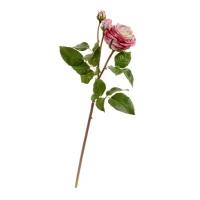 Роза Дэвид Остин Мидл ветвь искусственная розово-малиновая 50 см