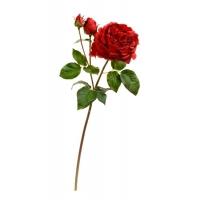 Роза Дэвид Остин Роял ветвь искусственная алая 58 см