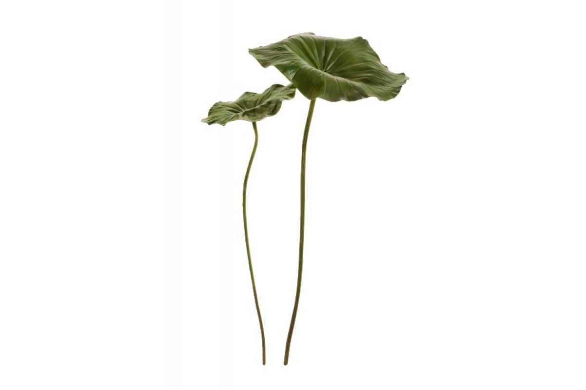 Лист Лотоса искусственный зеленый 87 см - Фото 2