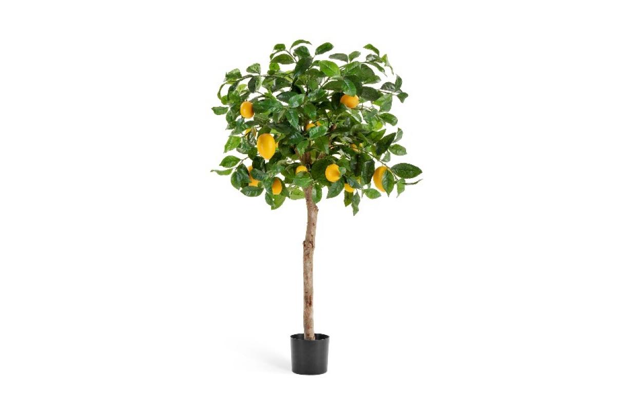Лимонное дерево искусственное с плодами 110 см