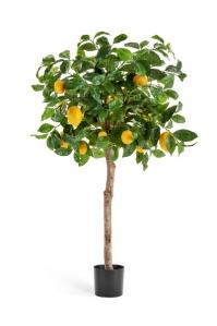 Лимонное дерево искусственное с плодами 120 см