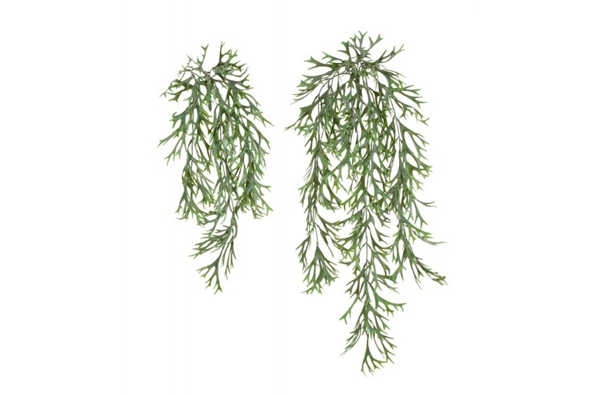 Куст Оленьи рога ампельный искусственный серо-зеленый