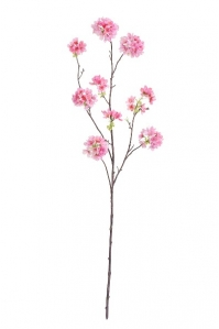 Ветка Сакуры Ball Flower искусственная розовая 115 см
