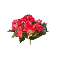 Бегония искусственная цветущая куст без кашпо 20 см (7 расцветок) (Цвет:бордово-желтый)