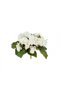 Бегония искусственная цветущая куст без кашпо 20 см (7 расцветок) (Цвет:кремовый)